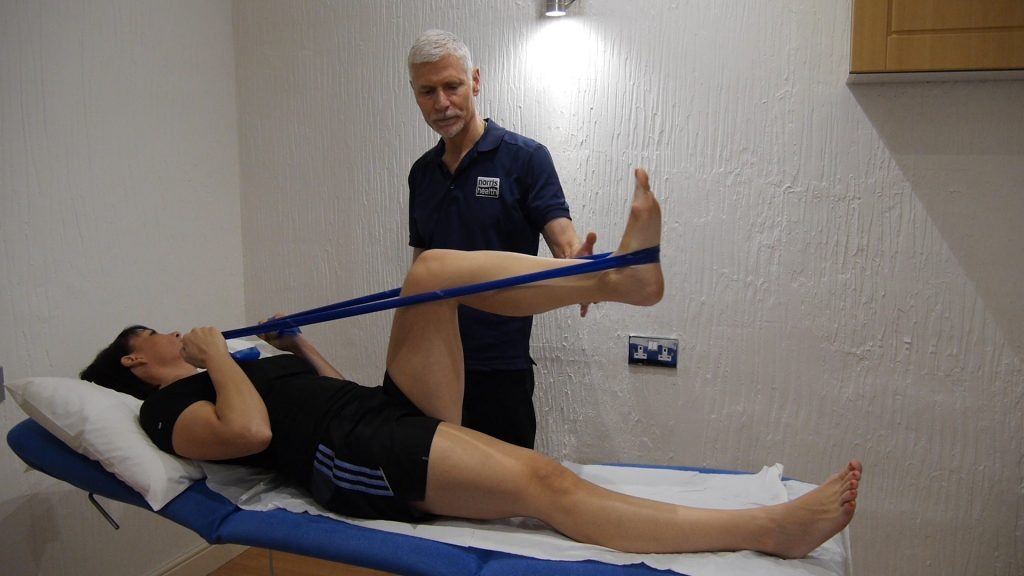 banded leg press exercise to help with knee arthritis