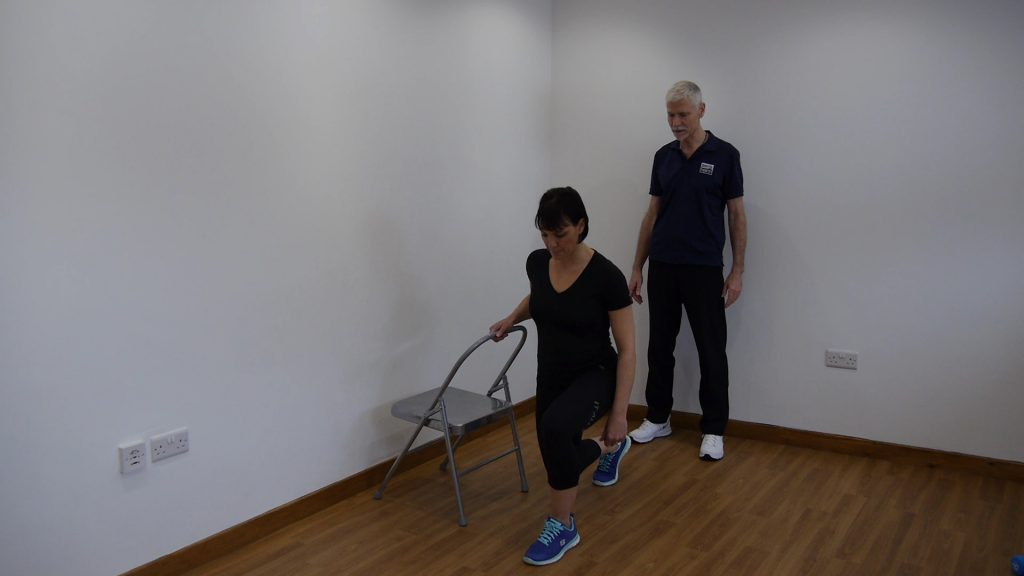 supported lunge exercise to help with knee arthritis