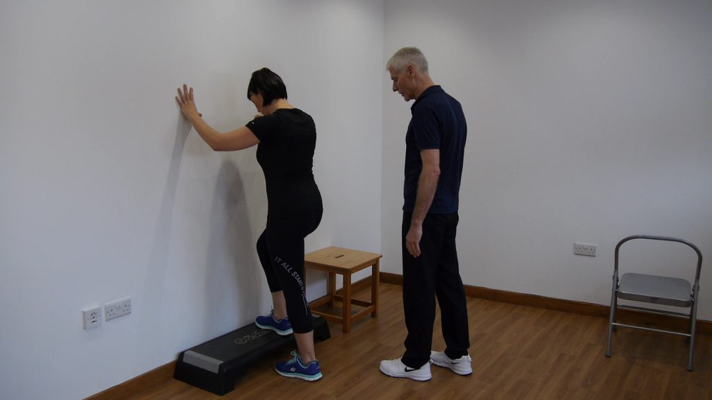 step up exercise to help with knee pain