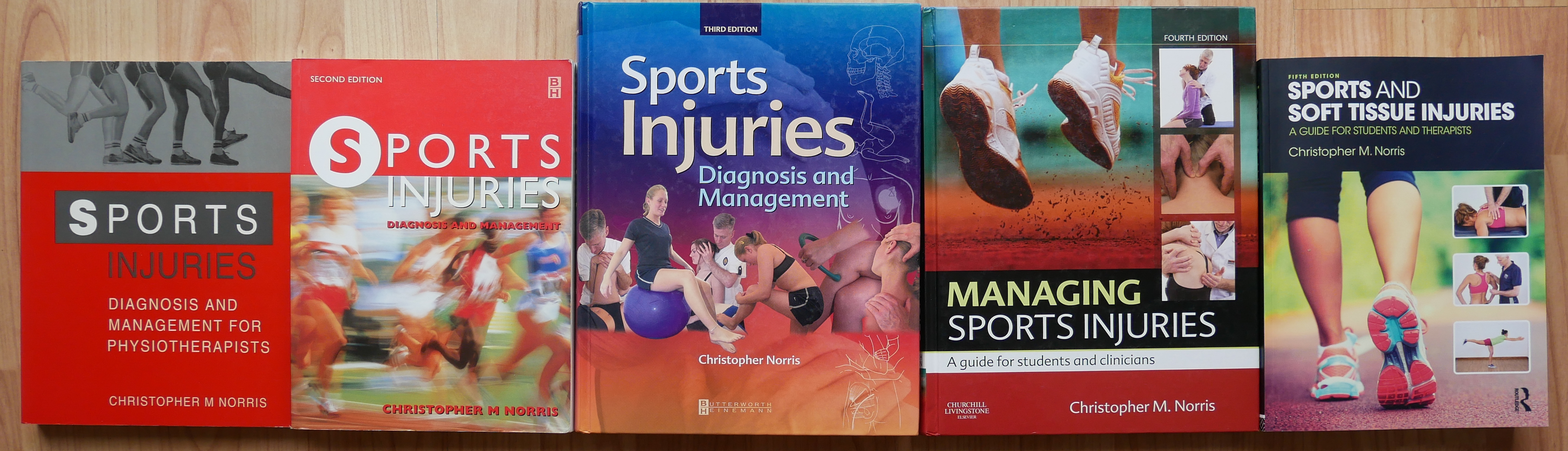 Sports & Soft Tissue Injuries - different editions